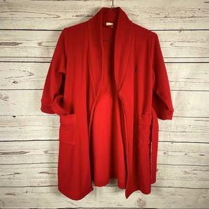 L.L. Bean kids red fleece robe Sz L6X/7